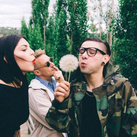 Toronto pop singer-songwriter Kai with Diplo, and Skrillex.