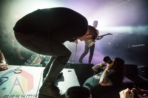 The Dillinger Escape Plan performing at the Texas Revolution Fest in Austin, Texas on October 24, 2015. (Photo: Michael Hurley/Aesthetic Magazine)