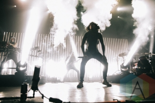 Oliver Sykes of Bring Me The Horizon performing at Sound Academy in Toronto on Oct. 8, 2015. (Photo: Amy Buck/Aesthetic Magazine)