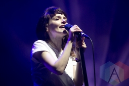 Chvrches performing at the Treasure Island Music Festival in San Francisco on October 18, 2015. (Photo: Raymond Ahner/Aesthetic Magazine)