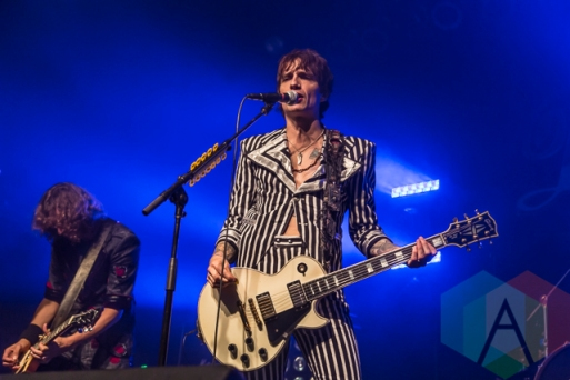 The Darkness performing at The Phoenix Concert Theatre in Toronto on October 23, 2015. (Photo: Dale Benvenuto/Aesthetic Magazine)