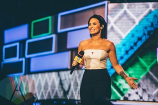 Demi Lovato at We Day Toronto 2015 at the Air Canada Centre in Toronto on Oct. 1, 2015. (Photo: Brandon Newfield/Aesthetic Magazine)