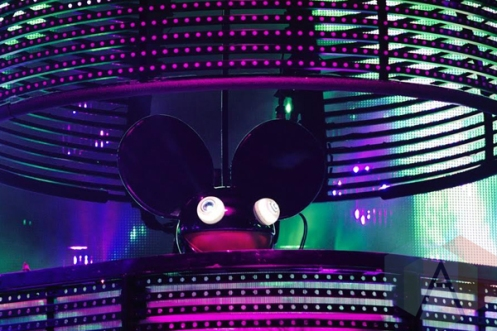 Deadmau5 performing at the Treasure Island Music Festival in San Francisco on October 17, 2015. (Photo: Gary Chancer/Aesthetic Magazine)