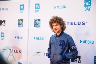Francesco Yates at We Day Toronto 2015 at the Air Canada Centre in Toronto on Oct. 1, 2015. (Photo: Brandon Newfield/Aesthetic Magazine)