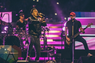 Hedley performing at We Day Toronto 2015 at the Air Canada Centre in Toronto on Oct. 1, 2015. (Photo: Brandon Newfield/Aesthetic Magazine)