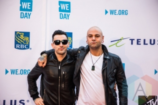 Hedley at We Day Toronto 2015 at the Air Canada Centre in Toronto on Oct. 1, 2015. (Photo: Brandon Newfield/Aesthetic Magazine)
