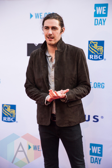 Hozier at We Day Toronto 2015 at the Air Canada Centre in Toronto on Oct. 1, 2015. (Photo: Brandon Newfield/Aesthetic Magazine)