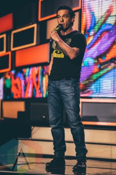 Joseph Boyden at We Day Toronto 2015 at the Air Canada Centre in Toronto on Oct. 1, 2015. (Photo: Brandon Newfield/Aesthetic Magazine)