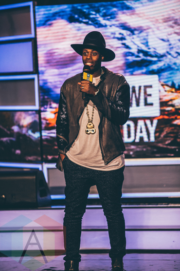 Kardinal Offishall at We Day Toronto 2015 at the Air Canada Centre in Toronto on Oct. 1, 2015. (Photo: Brandon Newfield/Aesthetic Magazine)