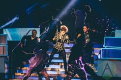 Kiesza performing at We Day Toronto 2015 at the Air Canada Centre in Toronto on Oct. 1, 2015. (Photo: Brandon Newfield/Aesthetic Magazine)
