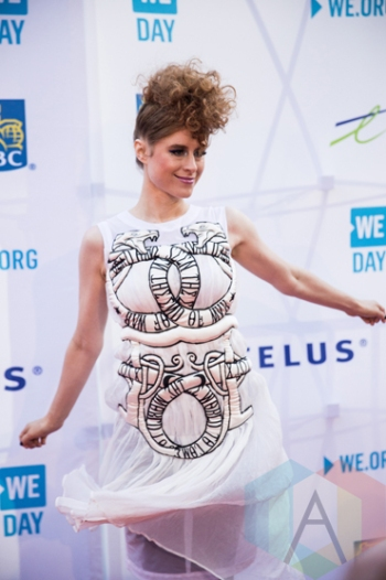 Kiesza at We Day Toronto 2015 at the Air Canada Centre in Toronto on Oct. 1, 2015. (Photo: Brandon Newfield/Aesthetic Magazine)