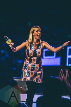Liz Trinnear at We Day Toronto 2015 at the Air Canada Centre in Toronto on Oct. 1, 2015. (Photo: Brandon Newfield/Aesthetic Magazine)