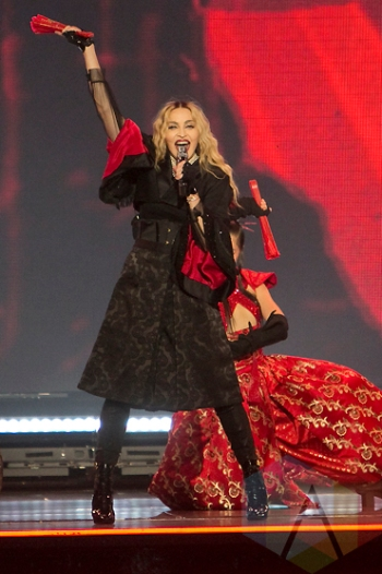 Madonna performing at the SAP Center in San Jose on October 19, 2015. (Photo: Raymond Ahner/Aesthetic Magazine)