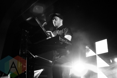 Martin Doherty of Chvrches performing at The Danforth Music Hall in Toronto on Oct. 4, 2015. (Photo: Alyssa Balistreri/Aesthetic Magazine)