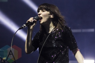 Lauren Mayberry of Chvrches performing at The Danforth Music Hall in Toronto on Oct. 4, 2015. (Photo: Alyssa Balistreri/Aesthetic Magazine)