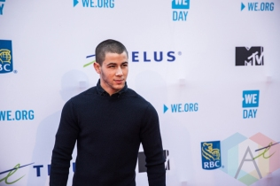 Nick Jonas at We Day Toronto 2015 at the Air Canada Centre in Toronto on Oct. 1, 2015. (Photo: Brandon Newfield/Aesthetic Magazine)