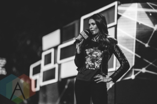 Nina Dobrev at We Day Toronto 2015 at the Air Canada Centre in Toronto on Oct. 1, 2015. (Photo: Brandon Newfield/Aesthetic Magazine)