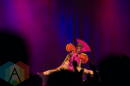 Peaches performing at the Phoenix Concert Theatre in Toronto on October 20, 2015. (Photo: Josh Ladouceur/Aesthetic Magazine)