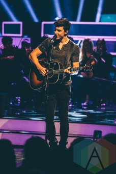 Shawn Mendes performing at We Day Toronto 2015 at the Air Canada Centre in Toronto on Oct. 1, 2015. (Photo: Brandon Newfield/Aesthetic Magazine)