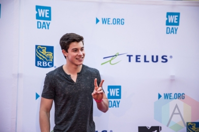 Shawn Mendes at We Day Toronto 2015 at the Air Canada Centre in Toronto on Oct. 1, 2015. (Photo: Brandon Newfield/Aesthetic Magazine)