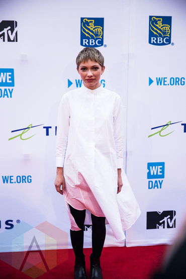 Tavi Gevinson at We Day Toronto 2015 at the Air Canada Centre in Toronto on Oct. 1, 2015. (Photo: Brandon Newfield/Aesthetic Magazine)
