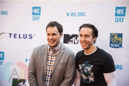 Marc and Craig Kielburger at We Day Toronto 2015 at the Air Canada Centre in Toronto on Oct. 1, 2015. (Photo: Brandon Newfield/Aesthetic Magazine)