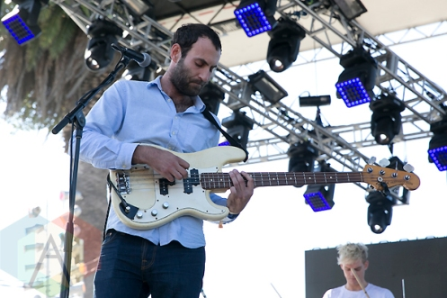 Viet Cong performing at the Treasure Island Music Festival in San Francisco on October 18, 2015. (Photo: Raymond Ahner/Aesthetic Magazine)