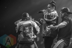 Salt N Pepa performing at the 2015 Zombie Ball at The Moody Theater in Austin, Texas on October 31, 2015. (Photo: Michael Hurley/Aesthetic Magazine)