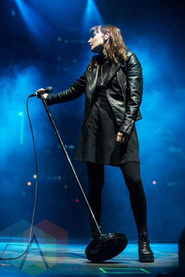 ‎Lauren Mayberry of Chvrches performing at Fun Fun Fun Fest in Austin, Texas on November 6, 2015. (Photo: Dave Mead)