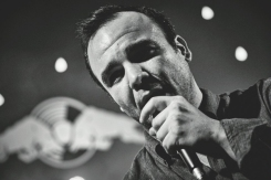 Samuel Herring of Future Islands performing with BadBadNotGood at the Red Bull Sound Select Presents: 30 Days in LA at The Tower Theatre in Los Angeles on November 20, 2015. (Photo: Koury Angelo/Red Bull)