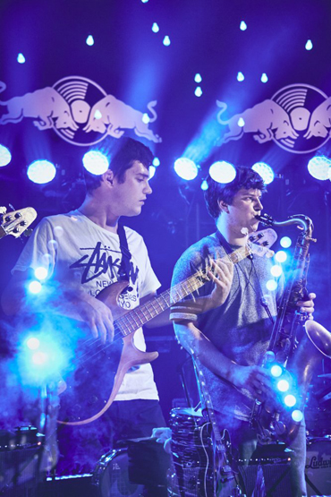 BadBadNotGood performing at the Red Bull Sound Select Presents: 30 Days in LA at The Tower Theatre in Los Angeles on November 20, 2015. (Photo: Koury Angelo/Red Bull)