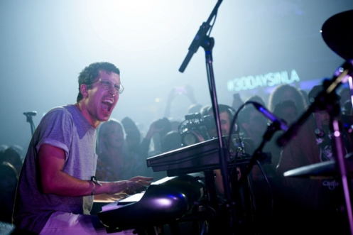 BadBadNotGood performing at the Red Bull Sound Select Presents: 30 Days in LA at The Tower Theatre in Los Angeles on November 20, 2015. (Photo: Drew Gurian/Red Bull)