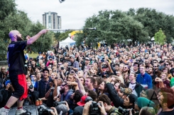 Fucked Up performing at Fun Fun Fun Fest in Austin, Texas on November 7, 2015. (Photo: Pooneh Ghana)
