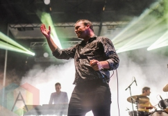 Future Islands performing at Fun Fun Fun Fest in Austin, Texas on November 8, 2015. (Photo: Chad Wadsworth)