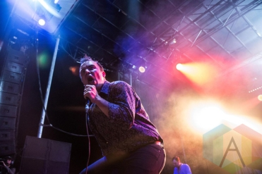Future Islands performing at Fun Fun Fun Fest in Austin, Texas on November 8, 2015. (Photo: Dave Mead)