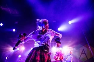Grimes performing at Fun Fun Fun Fest in Austin, Texas on November 7, 2015. (Photo: Reagan Hackleman)