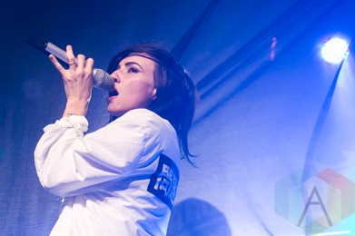 Lights performing at St. Andrews Hall in Detroit on November 24, 2015. (Photo: Amanda Cain/Aesthetic Magazine)