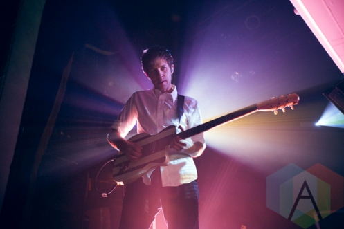 Brent Knopf of EL VY performing at The Opera House in Toronto on November 17, 2015. (Photo: Ryan Lawson/Aesthetic Magazine)