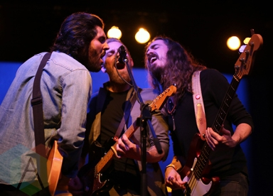 The Bros. Landreth performing at The Great Hall in Toronto on December 10, 2015. (Photo: Katrina Lat/Aesthetic Magazine)