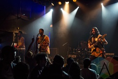 The OBGMs performing at The Mod Club in Toronto on December 19, 2015. (Photo: Theo Rallis/Aesthetic Magazine)