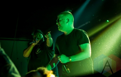 Run The Jewels performing at the Donald Stephens Convention Center in Chicago as part of Reaction NYE 2015. (Photo: Kari Terzino/Aesthetic Magazine)