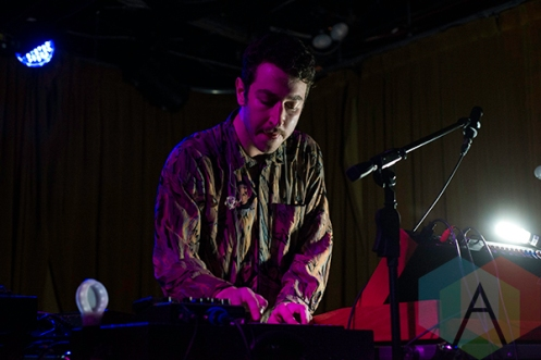 Chrome Sparks performing at The Drake Hotel in Toronto on January 13, 2016. (Photo: Josh Ladouceur/Aesthetic Magazine)
