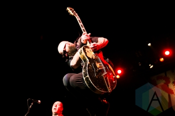 Rancid performing at The Warfield in San Francisco, California on January 1st, 2016. (Photo: Raymond Ahner/Aesthetic Magazine)