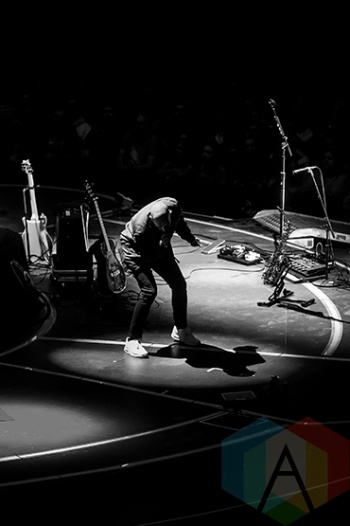 X Ambassadors performing at the Joe Louis Arena in Detroit on January 14, 2016. (Photo: Amanda Cain/Aesthetic Magazine)
