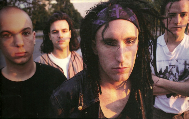 Richard Patrick (far right) during his time in Nine Inch Nails.