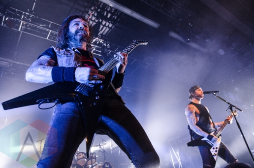 Bullet For My Valentine performing at the Playstation Theater in New York City on February 23, 2016. (Photo: Saidy Lopez/Aesthetic Magazine)