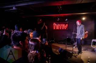 Neck Deep performing at HMV Underground in Toronto on February 11, 2016. (Photo: Kelsey Giesbrecht/Aesthetic Magazine)