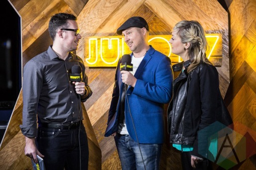 Splash N' Boots at the 2016 JUNO Awards press conference at The Phoenix Concert Theatre in Toronto on February 2, 2016. (Photo: Kelsey Giesbrecht/Aesthetic Magazine)