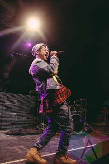 Taylor Bennett performing at the Riviera Theatre in Chicago on February 27, 2016. (Photo: Kris Cortes/Aesthetic Magazine)