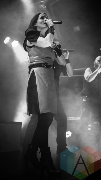 Van Canto performing at the O2 Academy Islington in London, UK on March 24, 2016. (Photo: Rossi Ivanova/Aesthetic Magazine)